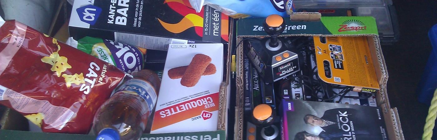 De voorraad Tiener-food voor de derde Night@theCurch